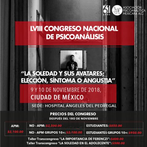 LVIII Congreso Nacional de Psicoanalisis