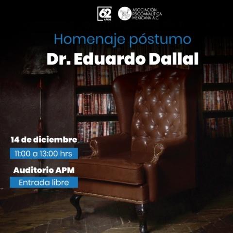 Homenaje póstumo Dr. Eduardo Dallal