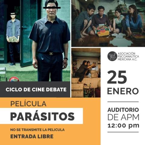 """Cine Debate de la película """"Parásitos"""""""