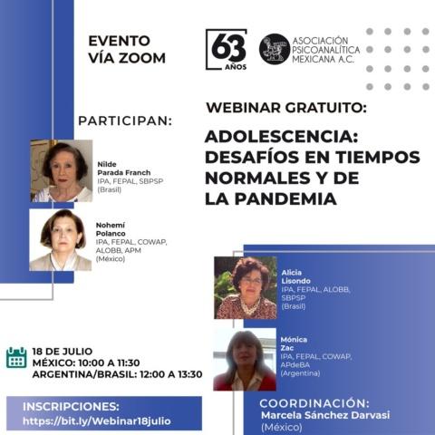 Adolescencia: desafíos en tiempos noramles y de pandemia