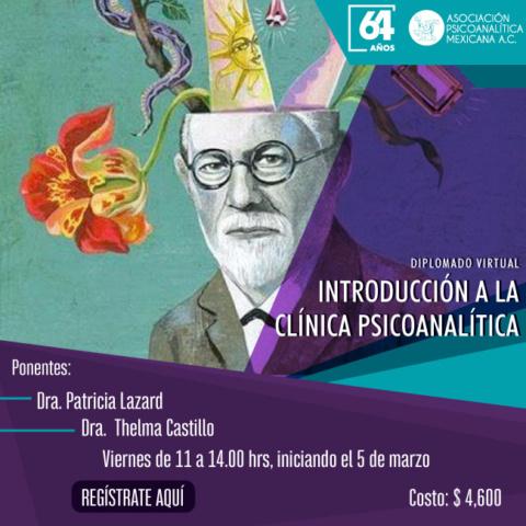 """Diplomado Virtual: """"Introducción a la Clínica Psicoanalítica"""""""