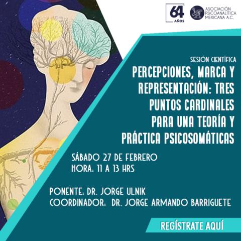 Percepciones, marca y representación: tres puntos cardinales para una teoría y práctica psicosomáticas