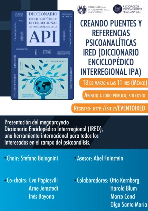 Sesión Cultural: Creando puentes y referencias psicoanalíticas IRED (Diccionario Enciclopédico Interregional IPA)
