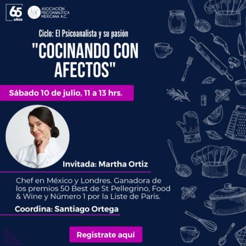 """""""Cocinando con afectos"""" Ciclo: El Psicoanalista y su pasión"""