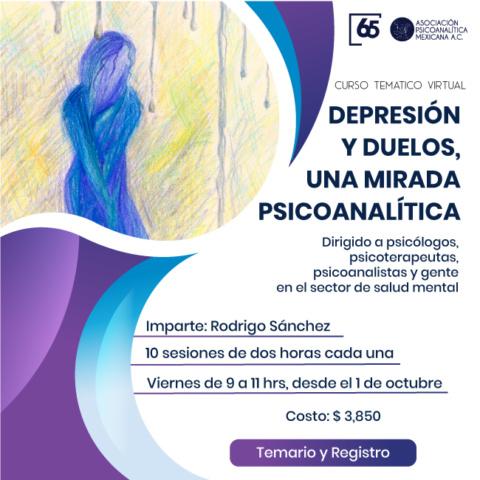 Curso temático virtual: Depresión y duelos, una mirada Psicoanalítica